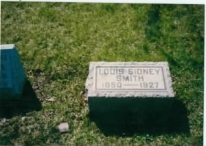 Headstone Louis sidney Smith