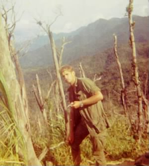 Lt. C. Thomas Jones in Quang Tri, S. Vietnam