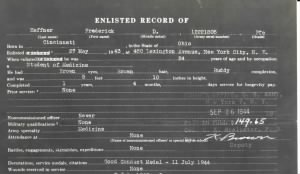 Another view of Enlisted Record, showing Financial stamp more clearly