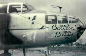 "Lt Draemel flew Combat in the ""Battlin' Betty"""