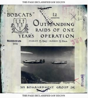 321st Bomb Group were known as the BOBCATS