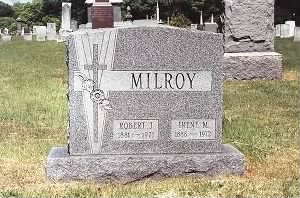 grave of Robert John and Irene Staley Milroy
