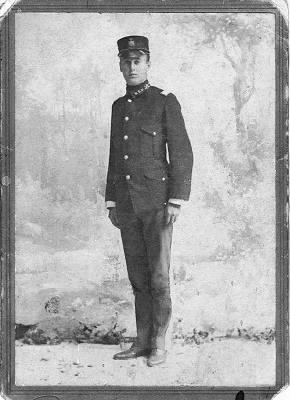 Lieutenant Van Kleeck in uniform