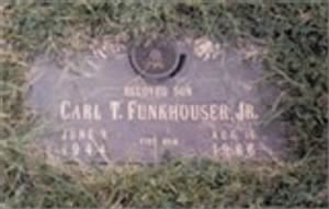 Grave marker for Carl T. Funkhouser, Jr