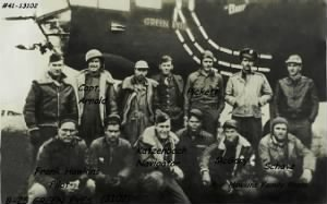 310th BG, 381st BS, Lt Frank Hawkins' ship GREEN EYES/ Shot-Down (POW)