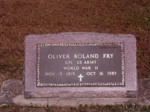 Oliver Roland Fry Headstone