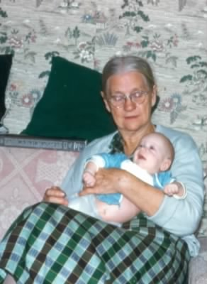 Grandma Bagley, great grandson