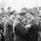 Presentation of the AIR MEDAL to Lt Tom Cahill on Corsica, 1944 (Tom was KIA Feb.'45)