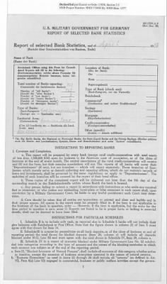 American Zone: Report of Selected Bank Statistics, April 1947 › Page 20 - Fold3.com