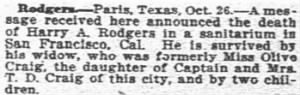 Harry A Rodgers Sr 1914 Death Notice.JPG
