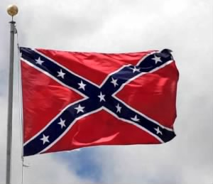 Flying Confederate Flag Photo