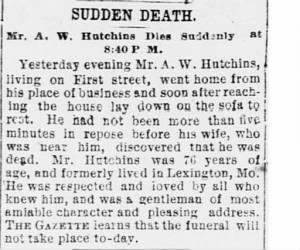 Anthony White Hutchins 1887 FW Obit.JPG