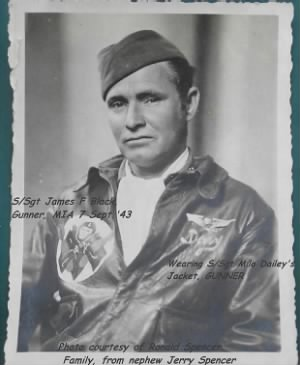 S/Sgt James F Black, MIA/KIA 7 Sept. 1943 B-25 GUNNER in 310th BG, 428th BS /MTO