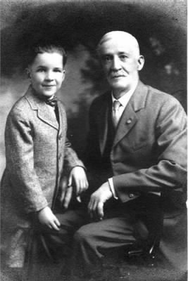 Daniel Clingaman and his grandson