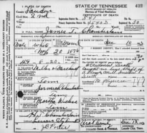 James Thompson Chamberlain 1925 TN Deat Cert.jpg