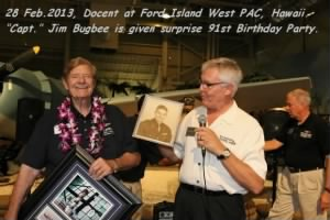 28 FEB 2013, Jim Bugbee is 91, SURPRISE Party, West PAC, Hawaii