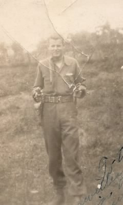 "Joe ""Irish Burkie"" in Germany in 1944"