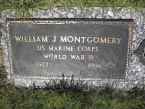 William James Montgomery Headstone 1922-1996