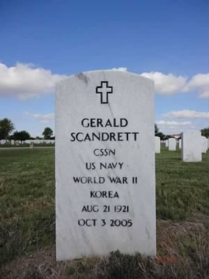erald Scandrett Headstone