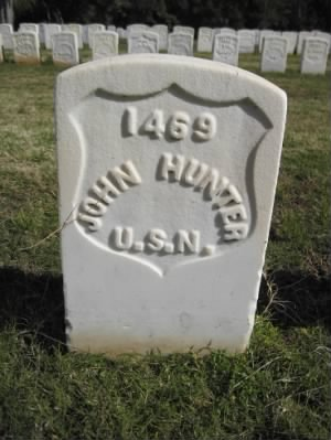 Seaman John Hunter Headstone
