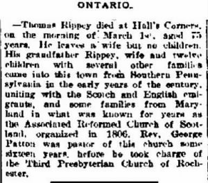 Thomas G Rippey 1892 Death Notice.JPG