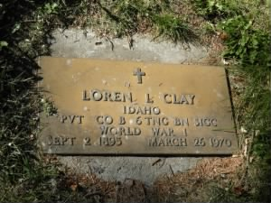 Pvt Loren Issac Clay Army Headstone