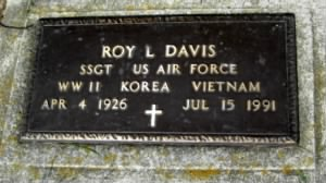SSgt Roy Lee Davis Air Force Headstone