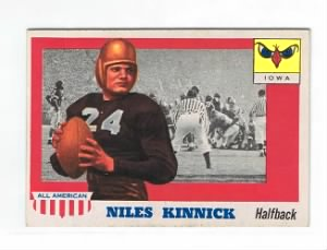 Nile Kinnick 1955 TOPPS All-American #6