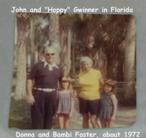 John and his wife HOPPY (Abby) Hopkinson Gwinner in Fla with Donna and Bambi Foster