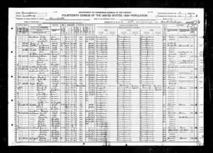 1920 Census, Curtis Cooper