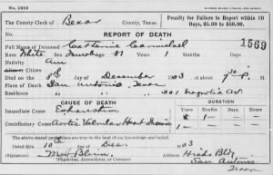 Catharine J Stirling Carmichael 1903 TX Death Cert.jpg