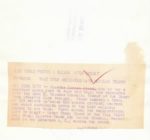 Clint Frank Heisman Telegram