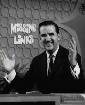 Ed McMahon as host of the television game show Missing Links.