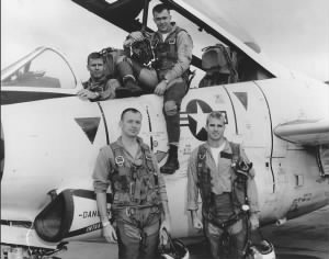 John McCain (front right) with his squadron