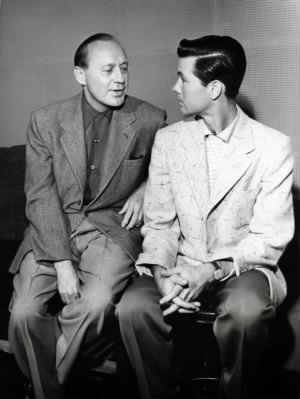 Jack Benny and Johnny Carson, 1955