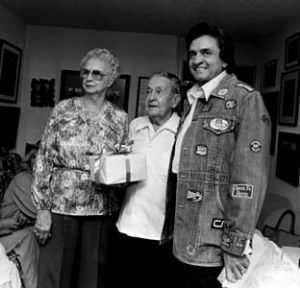 Johnny Cash with parents Ray & Carrie