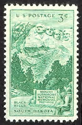 Mt. Rushmore Stamp 1952