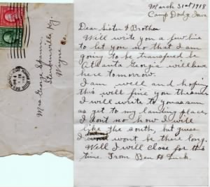 Letter from Benjamin H. Luck to his sister Maude Luck Spann.jpg