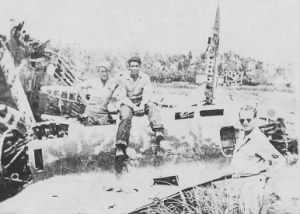 Perry in downed Jap plane.PNG