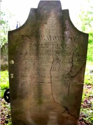 John Bing born 1747 died 1824 Original Tombstone.jpg