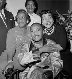 MLK with mother and wife.jpg