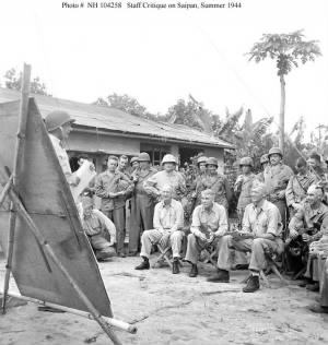 Schmidt (seated, center), Saipan 1944.jpg