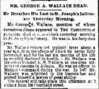 The Atlanta Constitution, Atlanta, GA, 27 Feb. 1887.