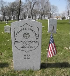 Private Marshall Sherman  Headstone.jpg