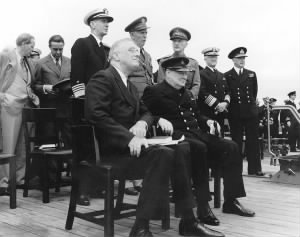 Stark (rear, 2nd from right) aboard HMS Prince of Wales at the conference that led to the Atlantic Charter.jpg