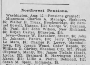 Minneapolis Journal 17 Aug 1901 - Brannan pension.PNG