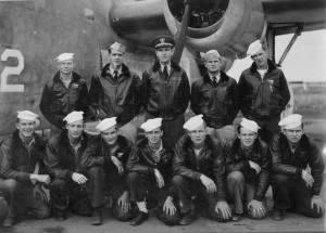 1946 Joe Gannon -bottom left- and plane crew.jpg
