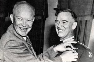 James Van Fleet shown with President Eisenhower..jpg