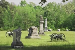 Monuments in Vinniard Field Chickamauga.jpg