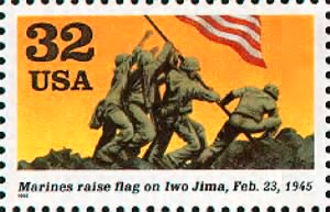 Marines raise flag on Iwo Jima.gif